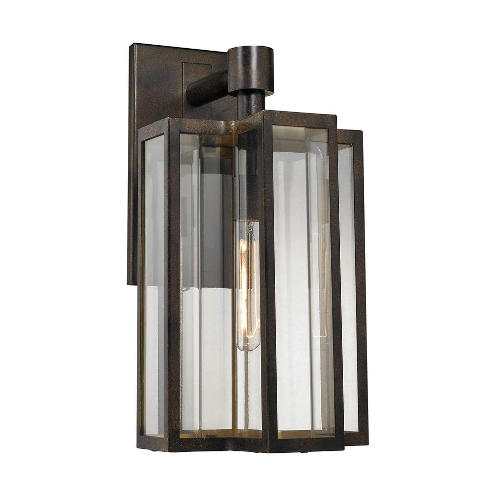 Large Outdoor Wall Lighting In Most Recently Released Titan Lighting Bianca 1 Light Hazelnut Bronze Outdoor Sconce Tn (View 2 of 20)