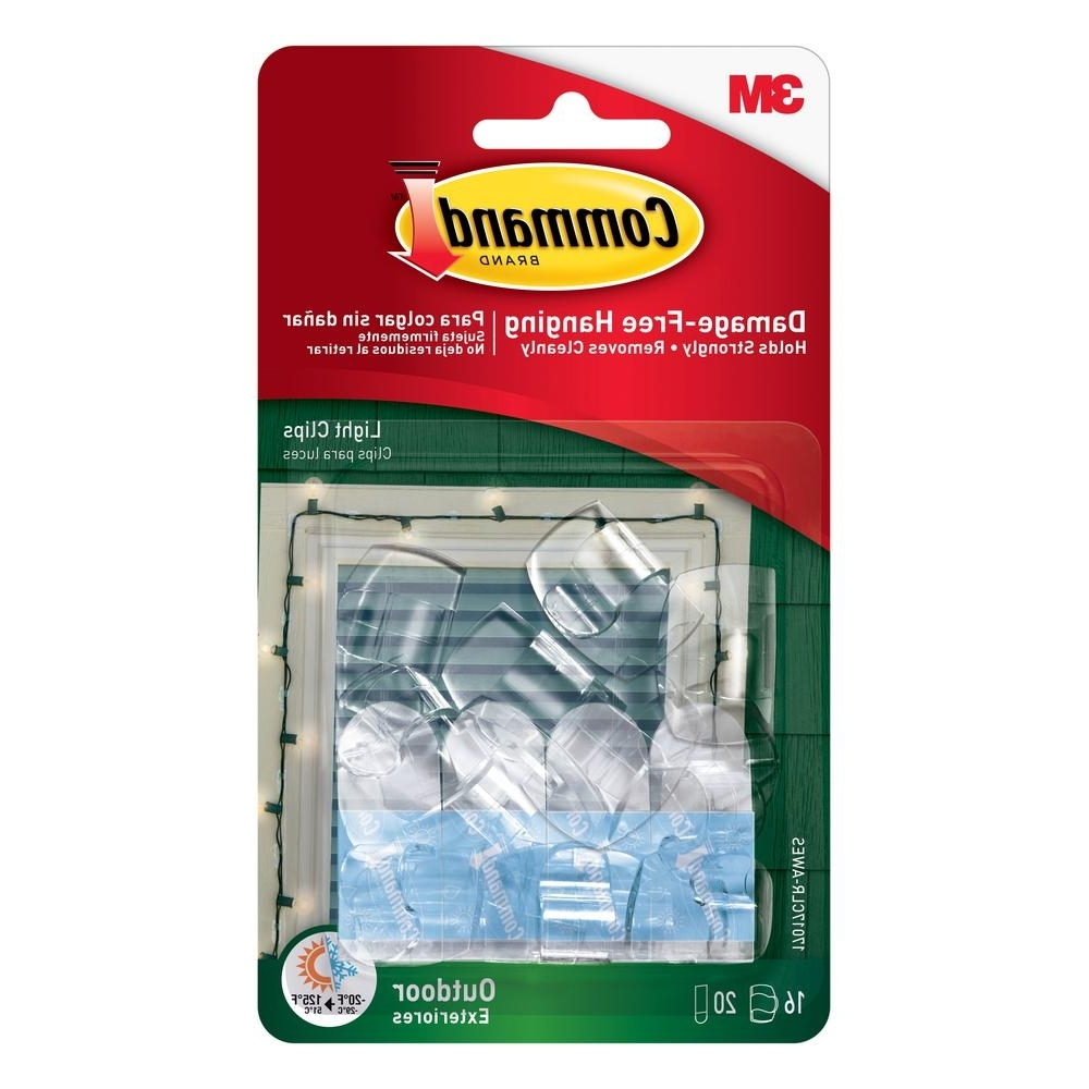 Latest Command Clear Small Outdoor Light Clips 17017Clr Aw – The Home Depot In Outdoor Hooks For Hanging Lights (Gallery 6 of 20)