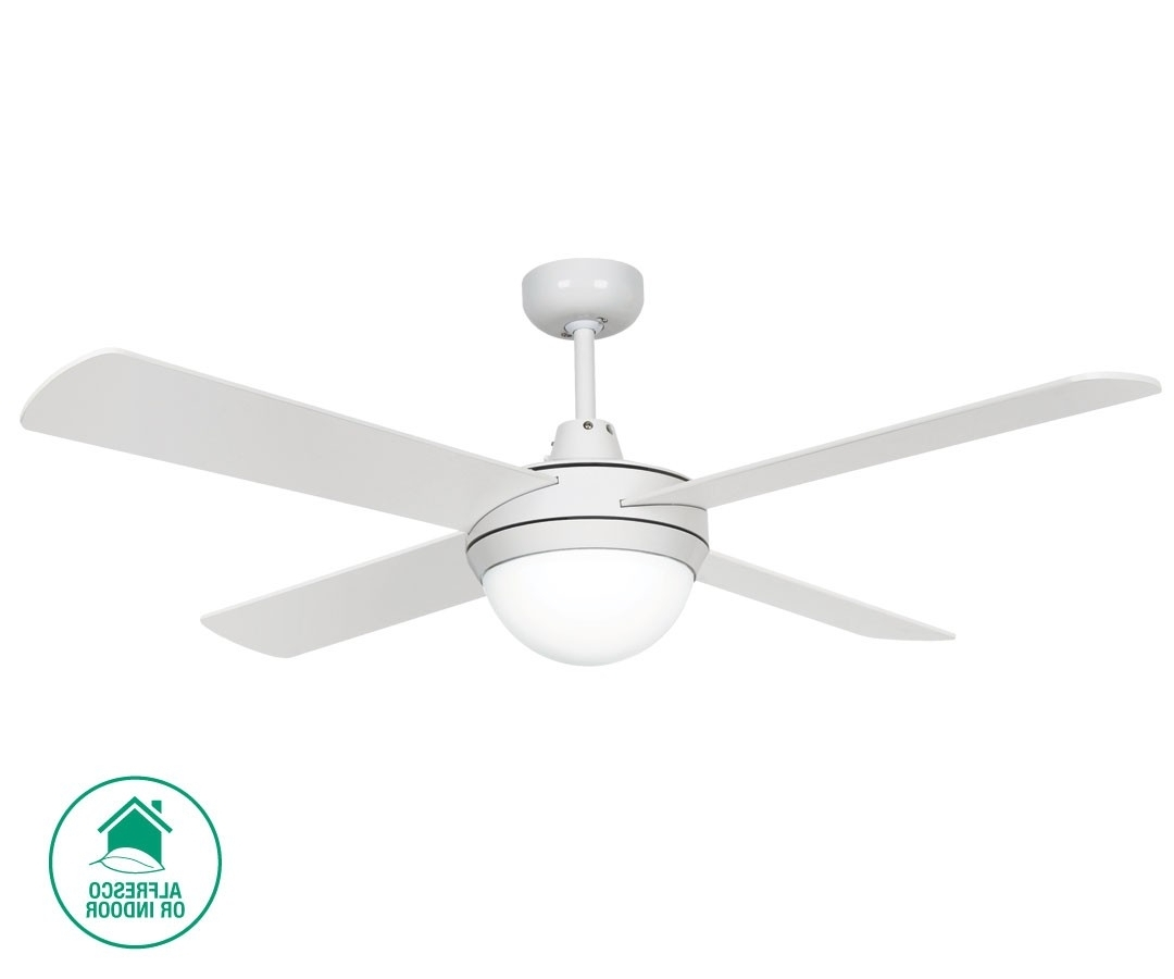 Latest Futura Eco 122cm Fan With Light In White,fans,beacon Lighting Pertaining To Outdoor Ceiling Fan Beacon Lighting (View 9 of 20)