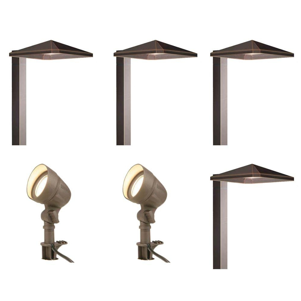 Latest Hampton Bay Low Voltage Bronze Outdoor Integrated Led Landscape Pertaining To Low Voltage Outdoor Ceiling Lights (View 7 of 20)