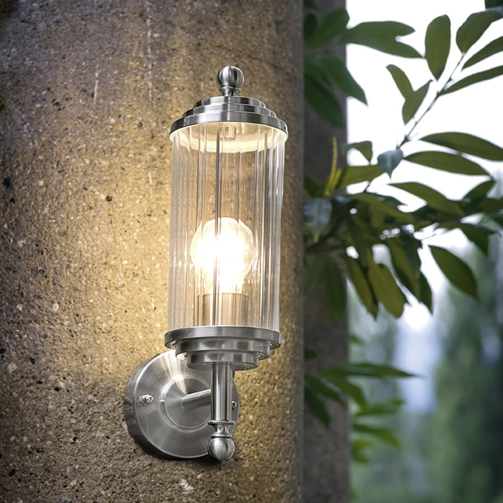 Latest Lighting Ideas: Outdoor Brushed Nickel Wall Sconceseglo Lighting In Nickel Polished Outdoor Wall Lighting (View 3 of 20)