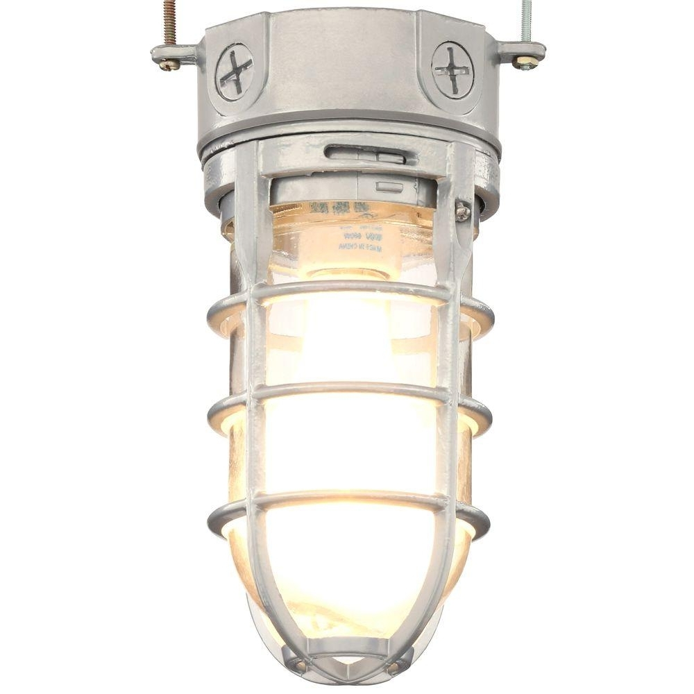 Latest Lithonia Lighting Pewter Incandescent Outdoor Flushmount Vapor Tight With Outdoor Porch Light Fixtures At Home Depot (View 3 of 20)