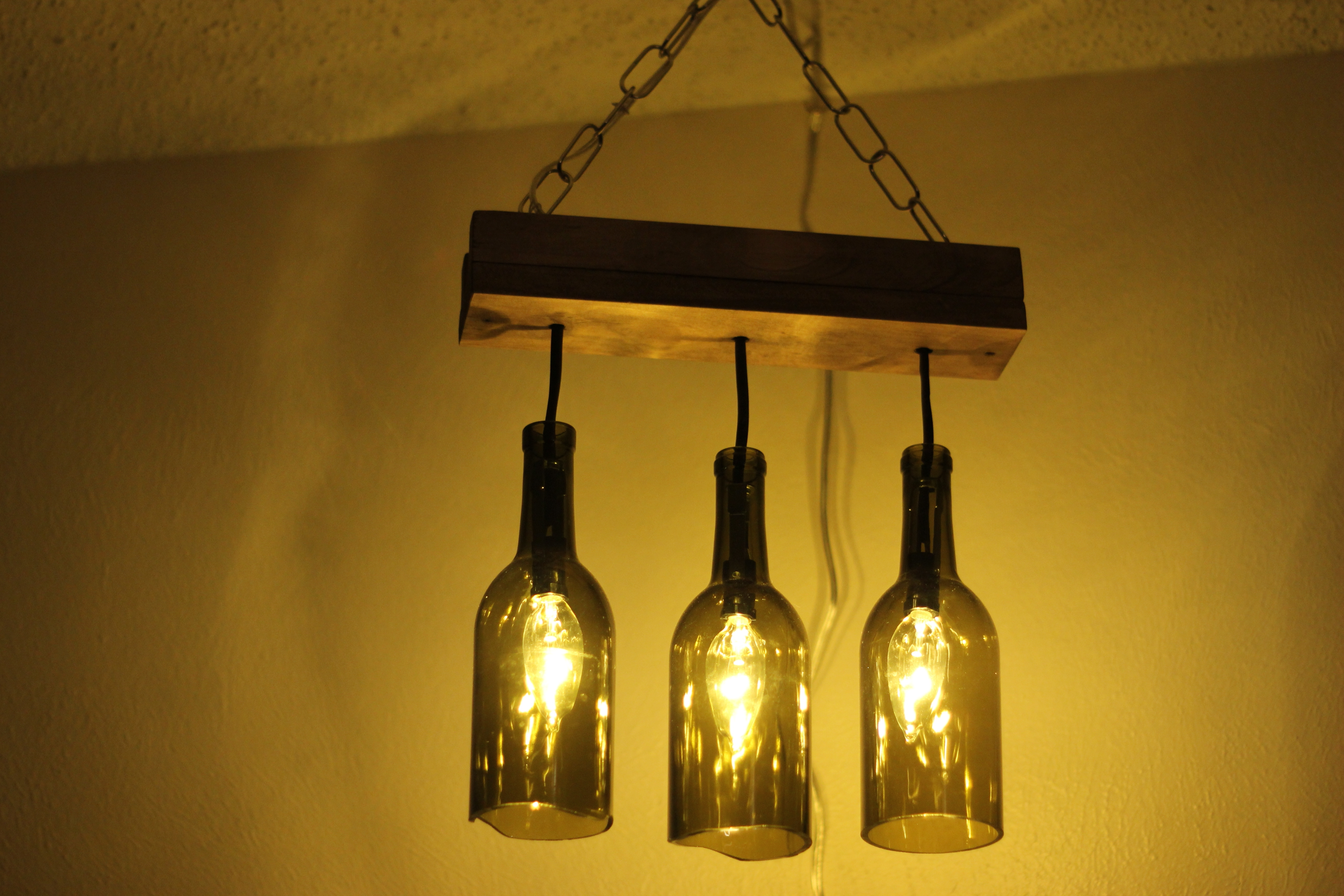 Latest Making Outdoor Hanging Lights From Wine Bottles In Wine Bottle (Gallery 2 of 20)