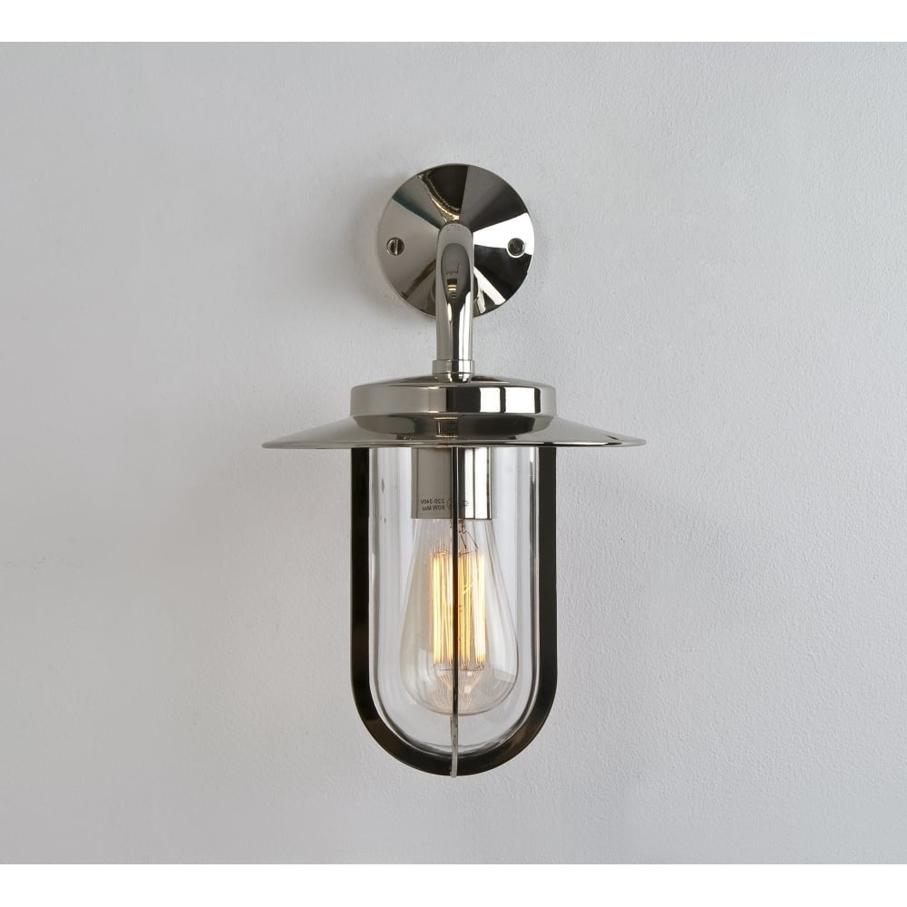 Latest Nickel Outdoor Wall Lighting Within Astro Montparnasse 0484 Outdoor Wall Light (View 8 of 20)