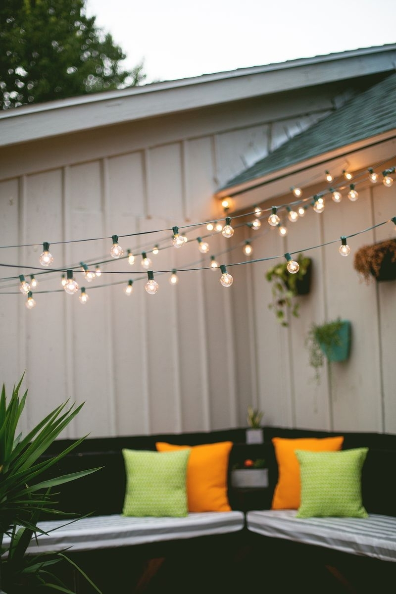 Latest Outdoor : Ellegant String Light Company Edison Vintage Outdoor Throughout Hanging Outdoor Lights With Wire (View 12 of 20)
