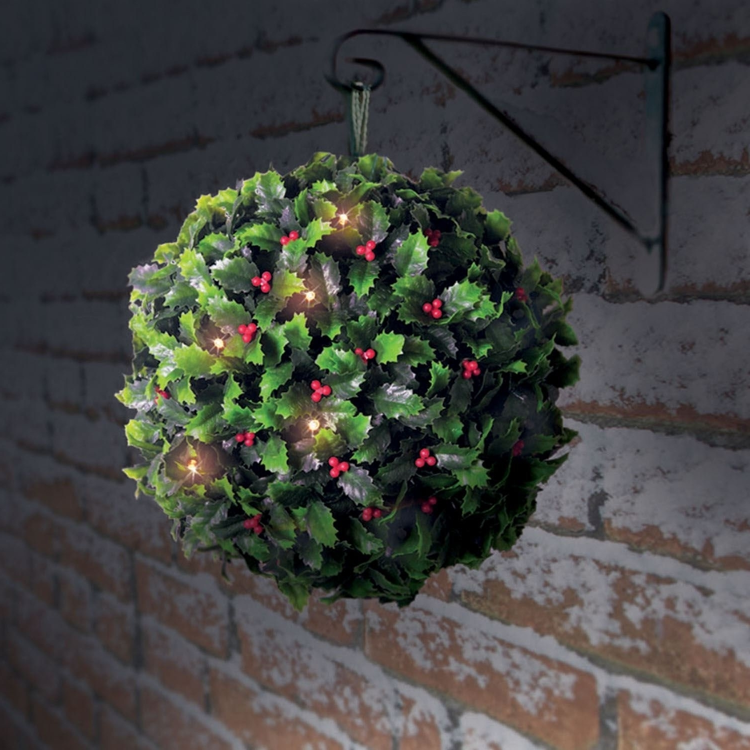 Latest Outdoor Hanging Basket Lights Throughout Christmas Hanging Basket With Lights (for Indoor Or Outdoor (View 16 of 20)