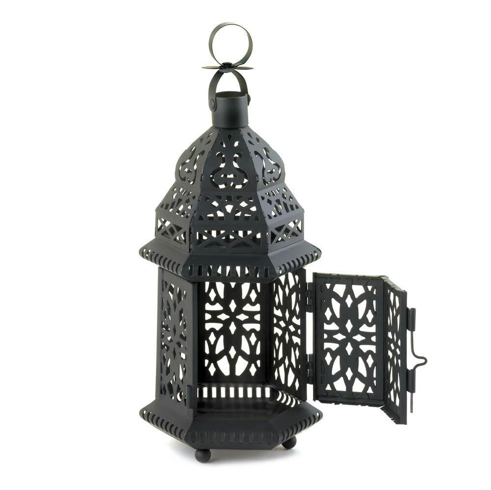 Latest Outdoor Hanging Decorative Lanterns Throughout Metal Lanterns, Moroccan Hanging Decorative Floor Patio Lantern (View 19 of 20)