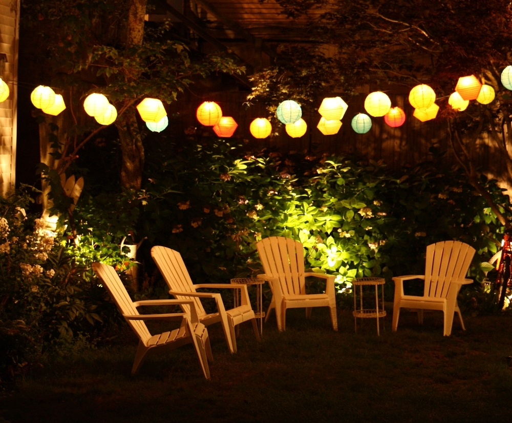 Latest Outdoor Hanging Party Lanterns Regarding String Lanterns Outdoor Lighting Ideas : Holiday Outdoor Lighting (Gallery 9 of 20)