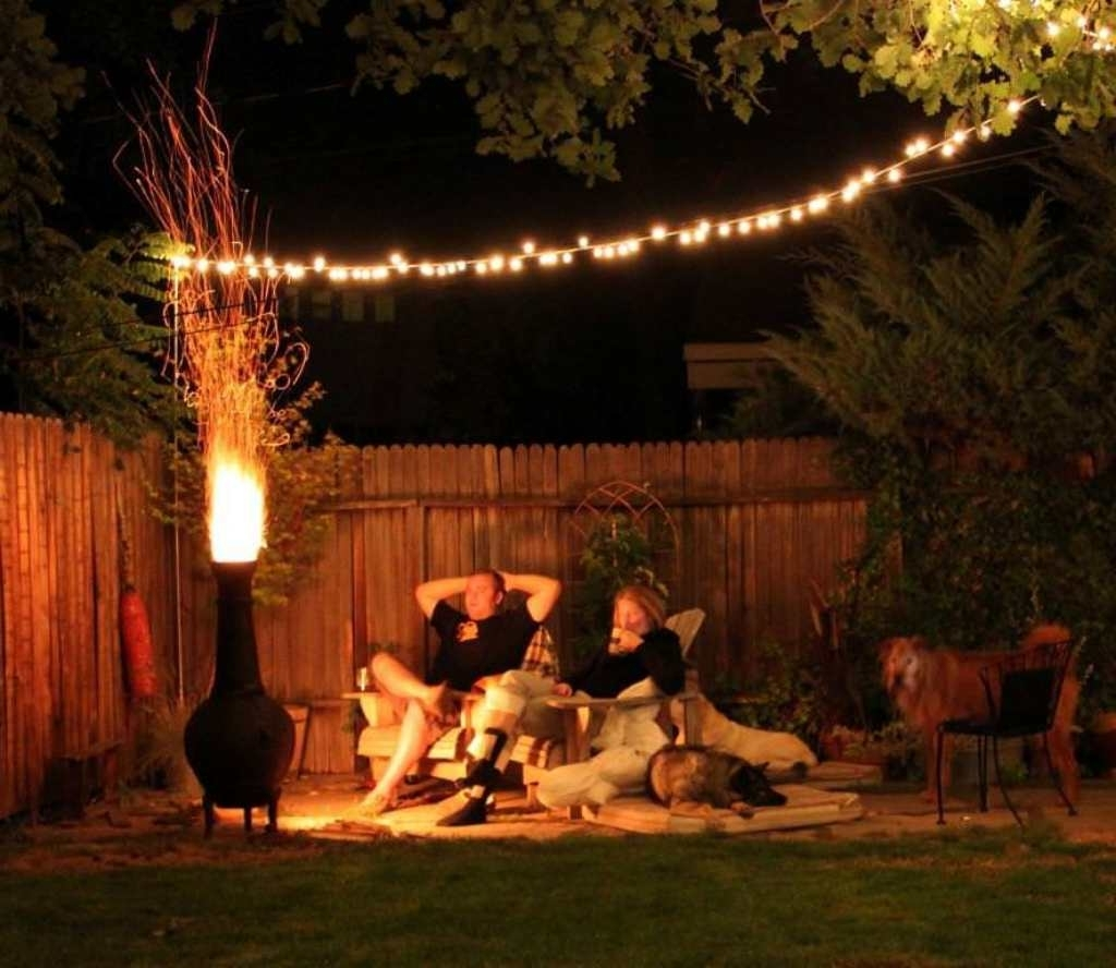 Latest Outdoor Hanging String Lights From Australia Pertaining To Diy : Simple Hanging String Lights For Excellent Patio Design With (Gallery 4 of 20)