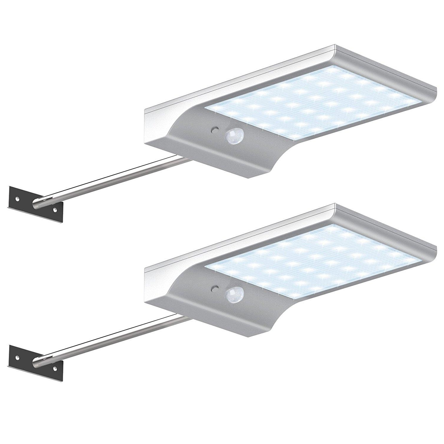 Latest Outdoor Solar Ceiling Lights Inside Shop Outdoor Wall Lamps Online, 36 Led Solar Gutter Lights Wall (View 12 of 20)