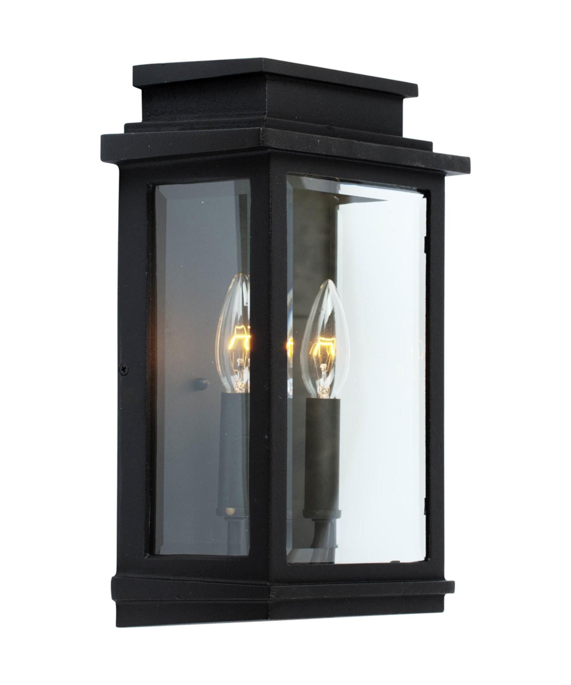 Latest Outdoor Wall Lights In Black Inside Artcraft Ac8391 Fremont 9 Inch Wide 2 Light Outdoor Wall Light (View 10 of 20)