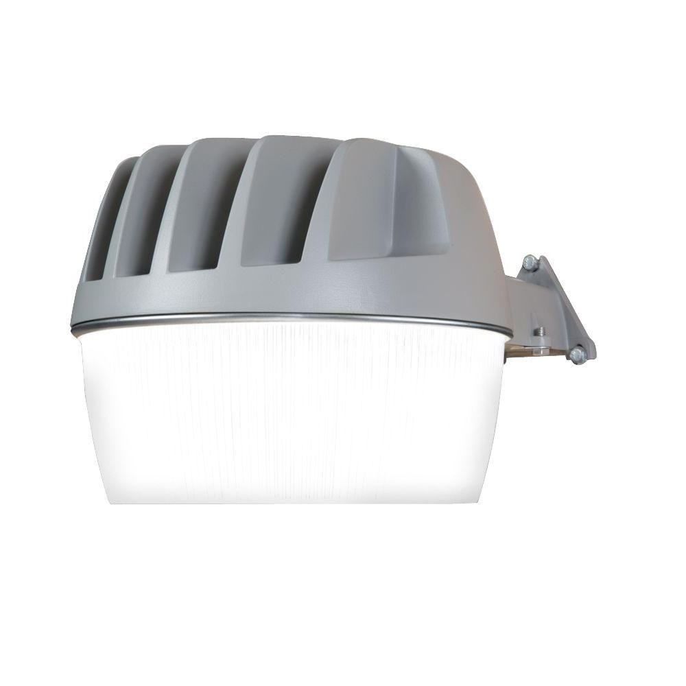 Latest Outdoor Wall Security Lights Intended For All Pro Gray Outdoor Integrated Led Area Dusk To Dawn Security Light (View 2 of 20)