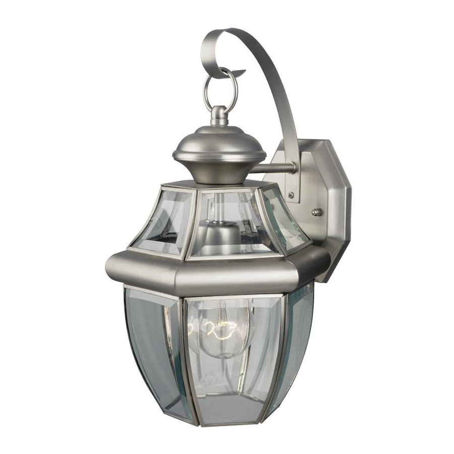 Latest Pewter Outdoor Wall Lights With Regard To Shop Galaxy Coach 14 In H Pewter Outdoor Wall Light At Lowes (View 13 of 20)