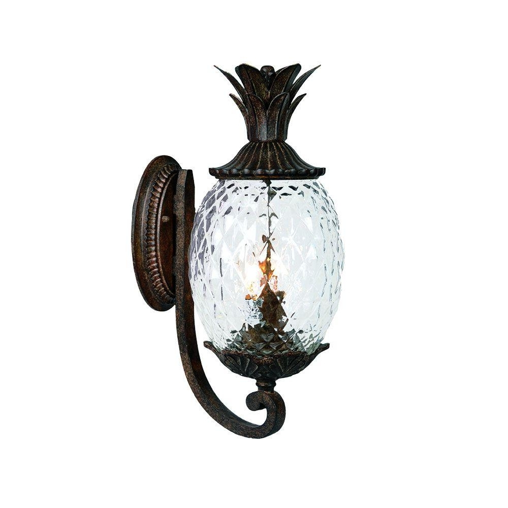 Latest Pineapple Outdoor Wall Lights Regarding Acclaim Lighting Lanai Collection 2 Light Black Coral Outdoor Wall (Gallery 9 of 20)