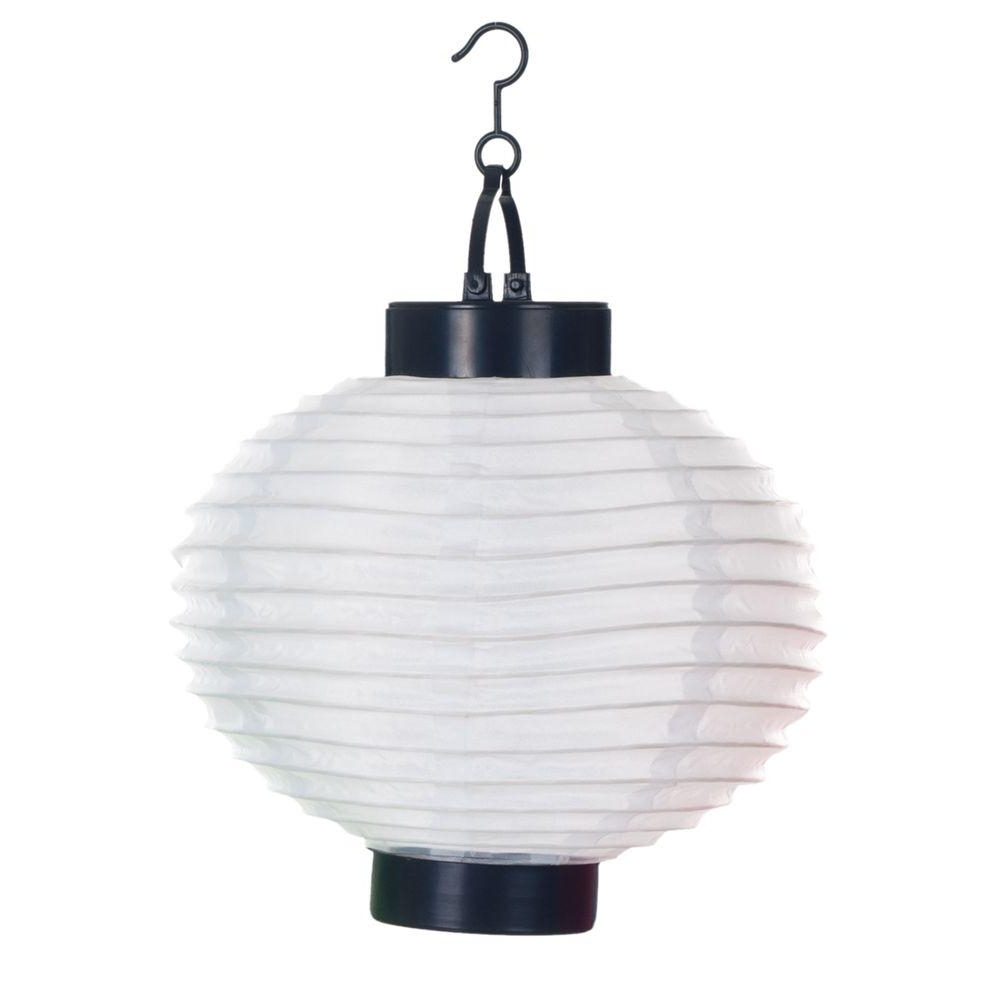 Latest Pure Garden 4 Light White Outdoor Led Solar Chinese Lantern 50 19 W Regarding Outdoor Hanging Chinese Lanterns (View 7 of 20)