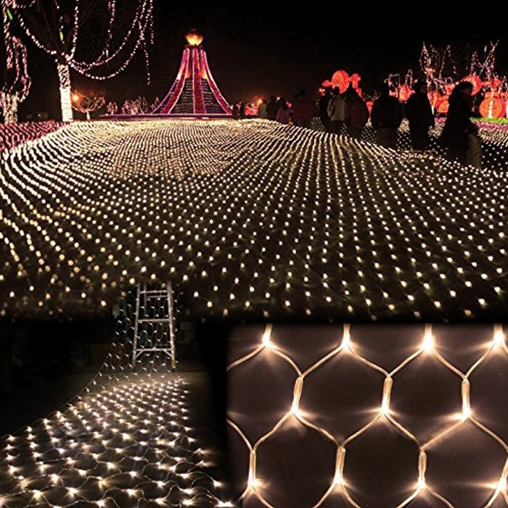 Latest Romantic 2m*3m Led Holiday Lights Christmas Tree Wedding Party Fairy Inside Outdoor Wall Xmas Lights (View 6 of 20)