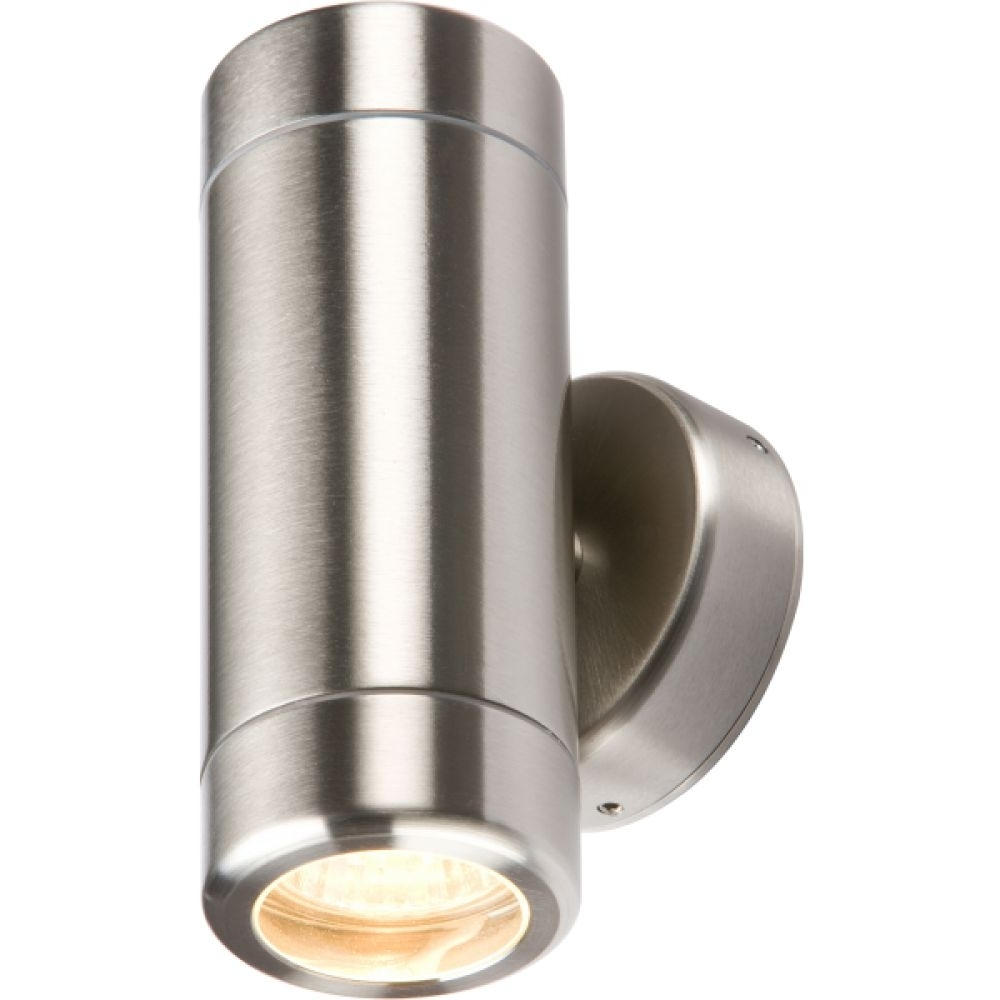 Latest Up Down Outdoor Wall Lighting Regarding Stainless Steel Up/down Twin Outdoor Wall Light (View 10 of 20)