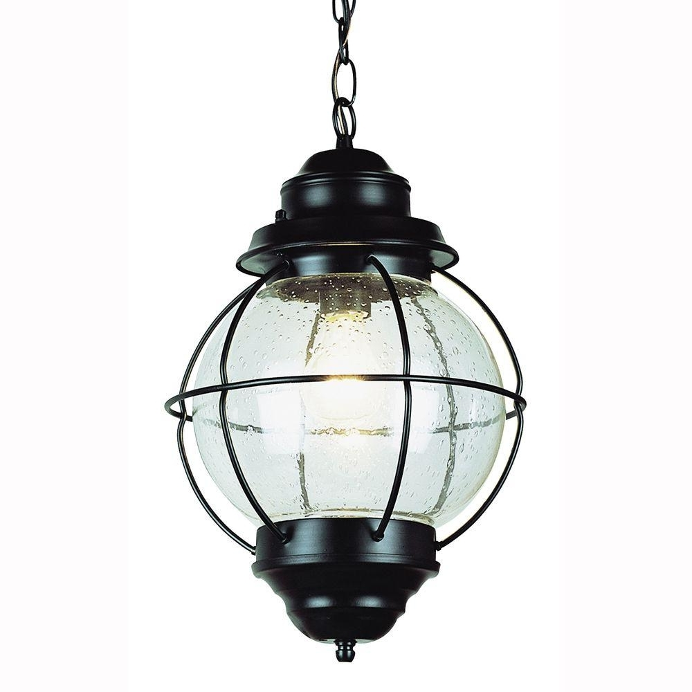 Latest Vintage Outdoor Hanging Lights Inside Bel Air Lighting Lighthouse 1 Light Outdoor Hanging Black Lantern (View 3 of 20)