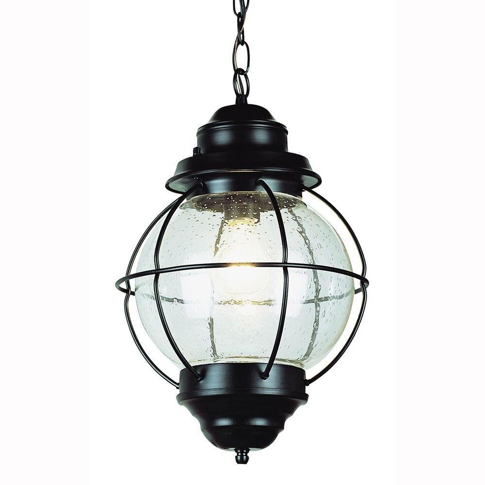 Latest Vintage Outdoor Hanging Lights Inside Bel Air Lighting Lighthouse 1 Light Outdoor Hanging Black Lantern (View 9 of 20)