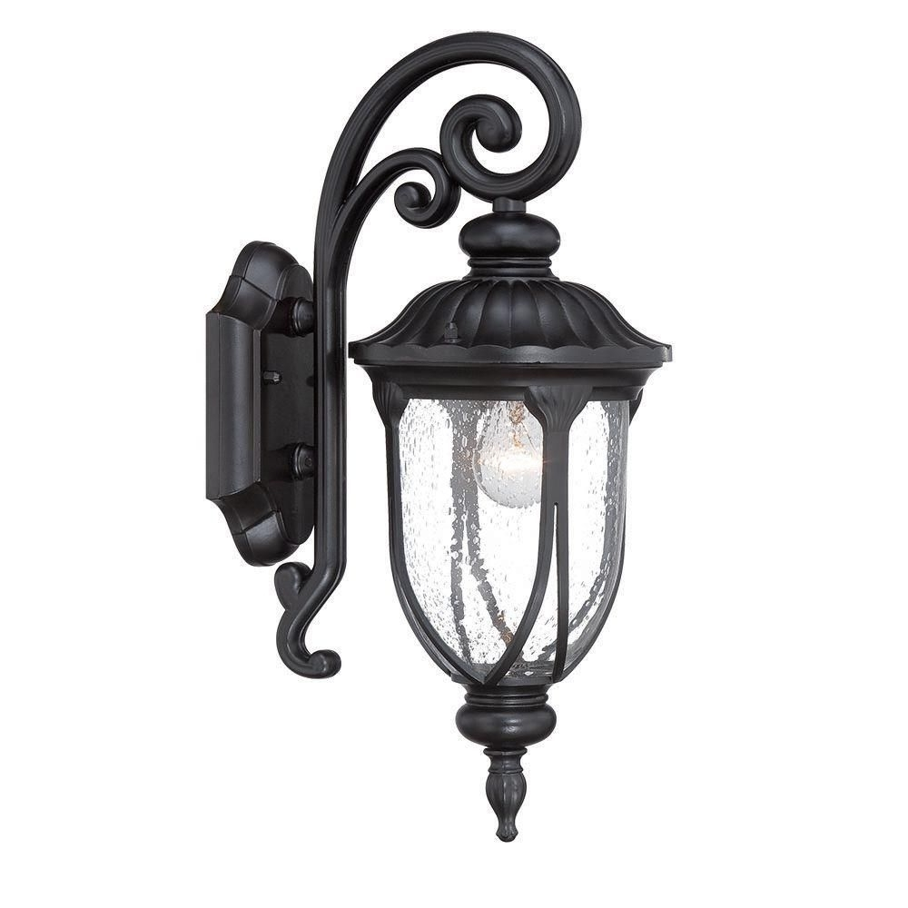 Laurens Collection 1 Light Matte Black Outdoor Wall Mount Light Regarding Widely Used Acclaim Lighting Outdoor Wall Lights (View 9 of 20)