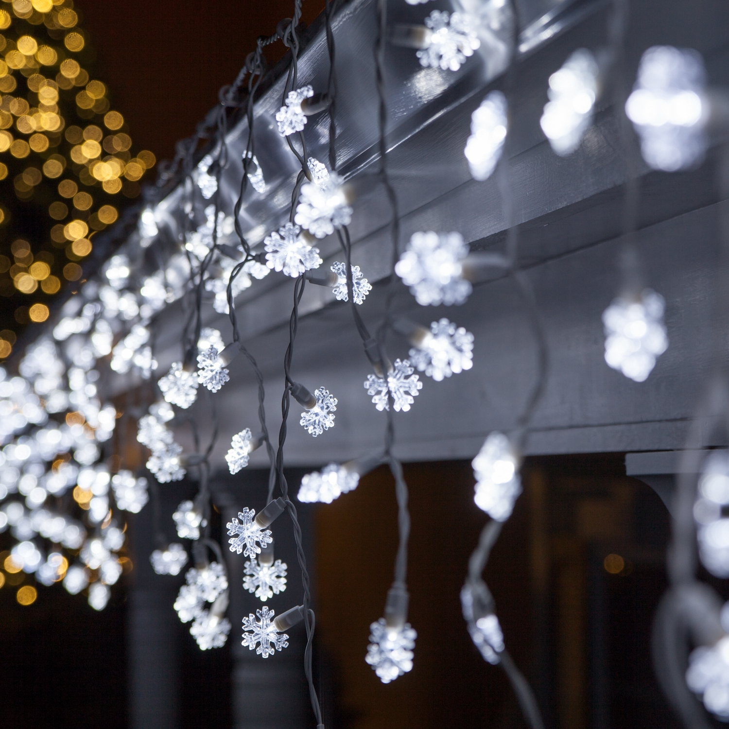 Led Christmas Lights – 70 Cool White Snowflake Led Icicle Lights Throughout Best And Newest Outdoor Hanging Snowflake Lights (Gallery 7 of 20)