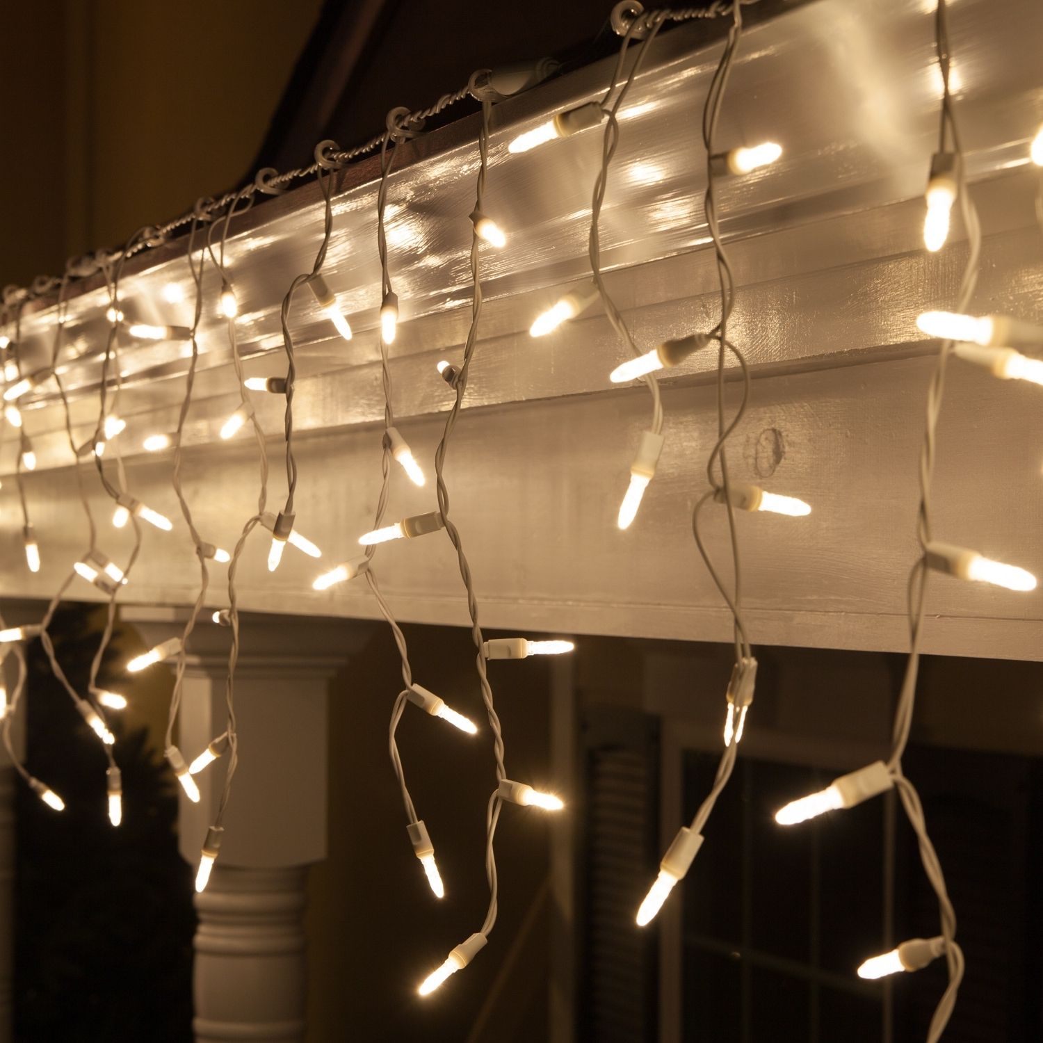 Led Christmas Lights – 70 M5 Warm White Twinkle Led Icicle Lights For Widely Used Outdoor Hanging Icicle Lights (View 3 of 20)