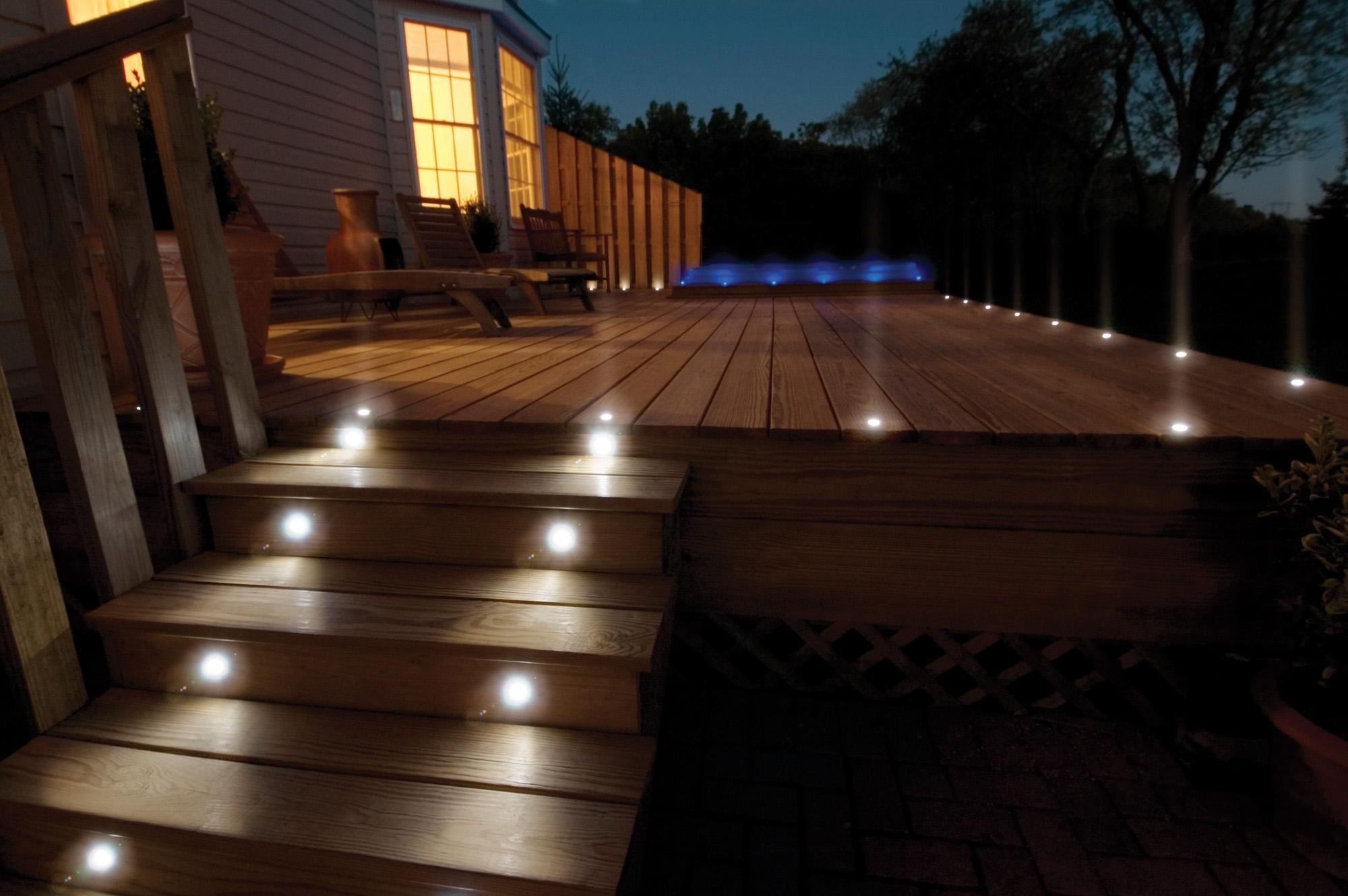 Led Light Design: Sophisticated Deck Led Lights For Outdoor Deck With Regard To Popular Modern Low Voltage Deck Lighting At Home Depot (View 7 of 20)