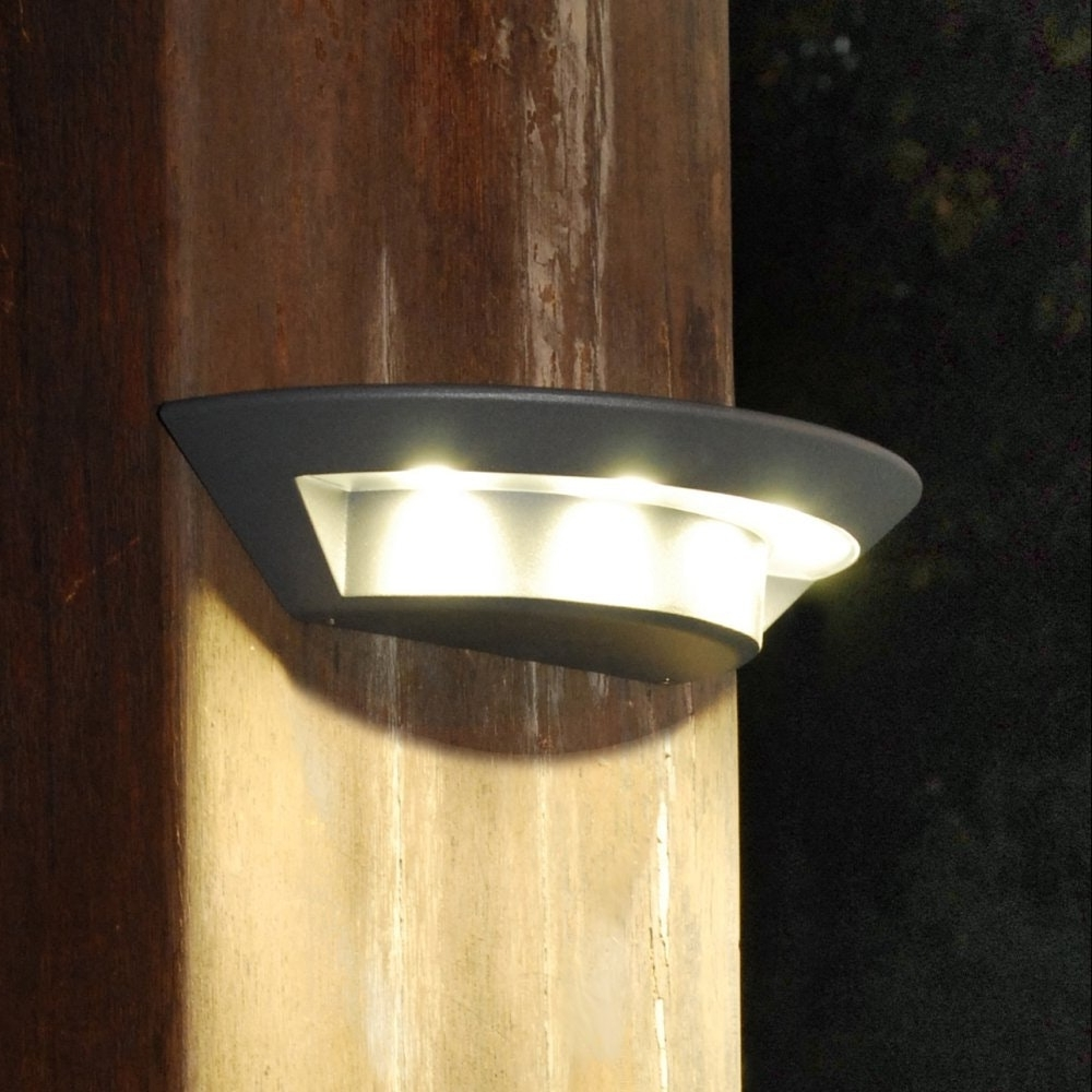 Led Light Design Sophisticated Led Outdoor Wall Lights Collection Inside Recent Outdoor Wall Spotlights (View 7 of 20)