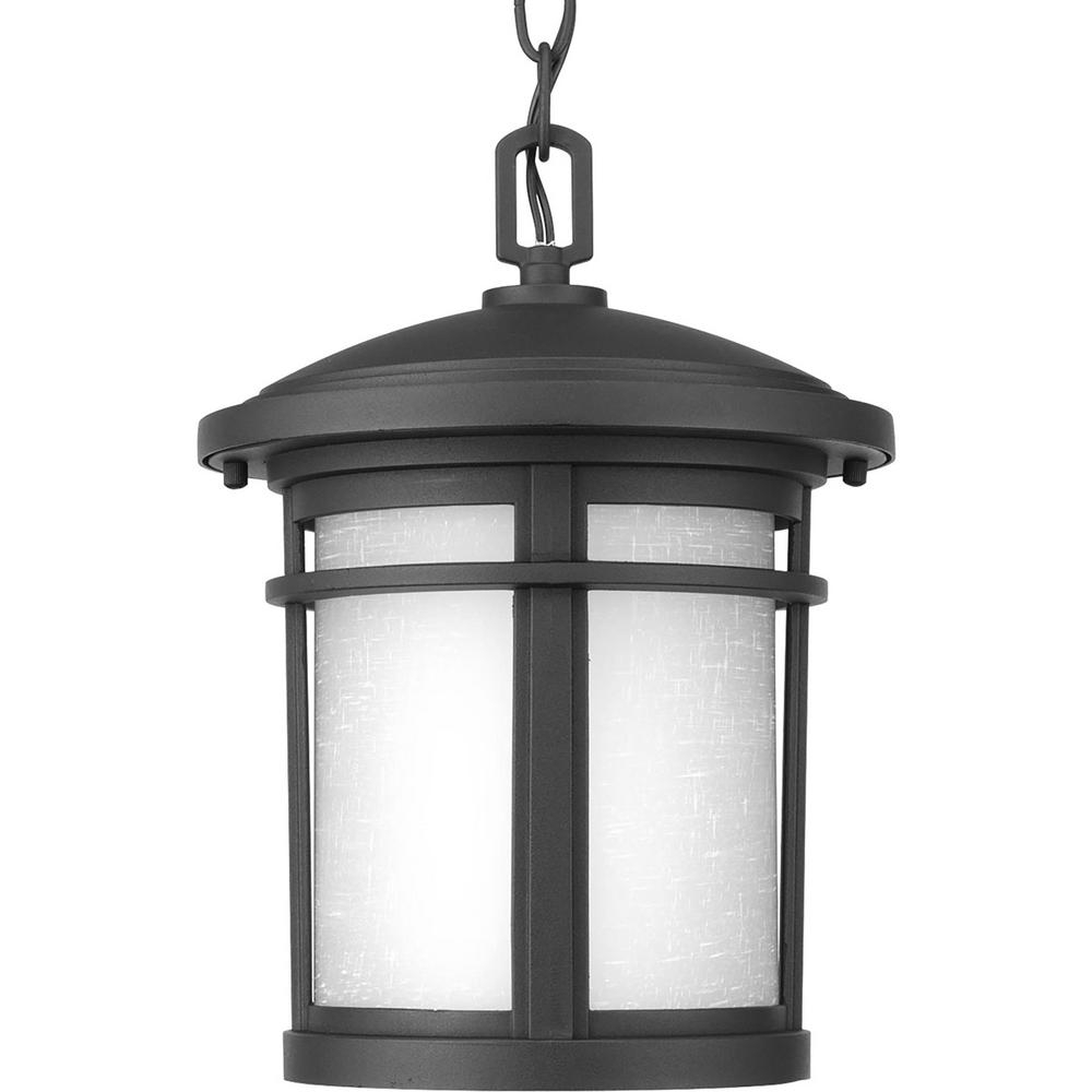 Led Outdoor Hanging Lanterns Inside Popular Progress Lighting Wish Collection 1 Light Outdoor Textured Black Led (View 8 of 20)