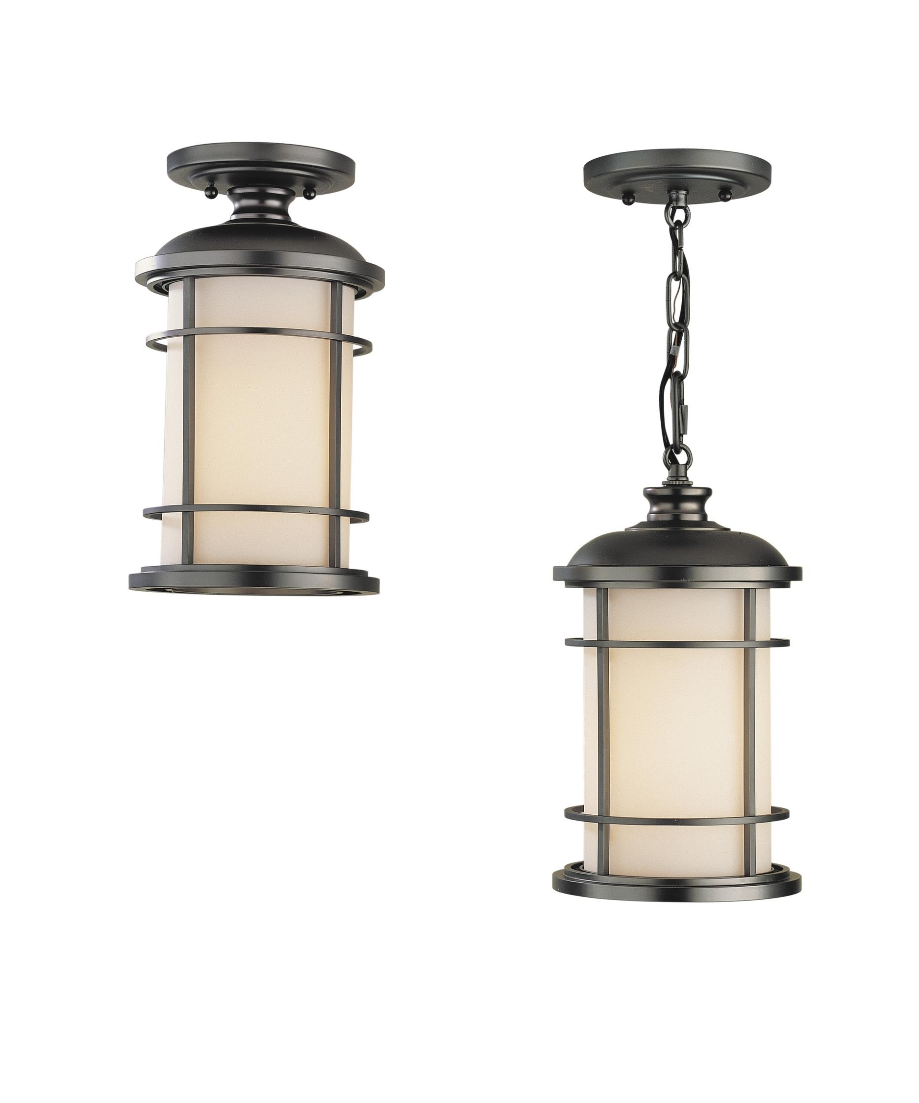 Led Outdoor Hanging Lanterns Throughout Most Popular Murray Feiss Ol2209 Lighthouse 7 Inch Wide 1 Light Outdoor Hanging (View 9 of 20)