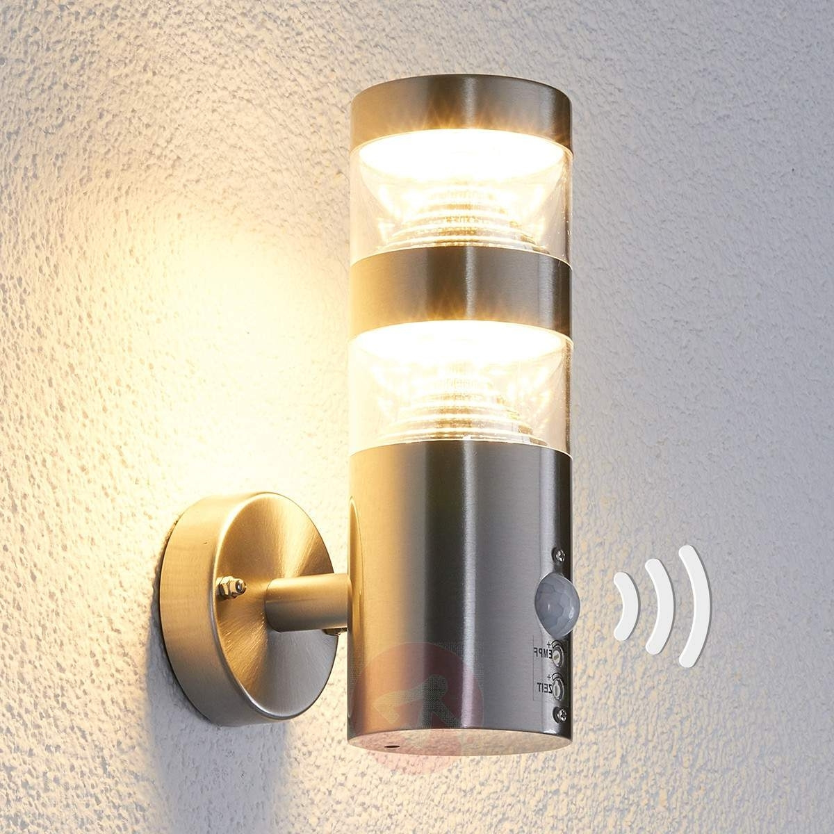Led Outdoor Wall Light Lanea With Motion Sensor (View 9 of 20)