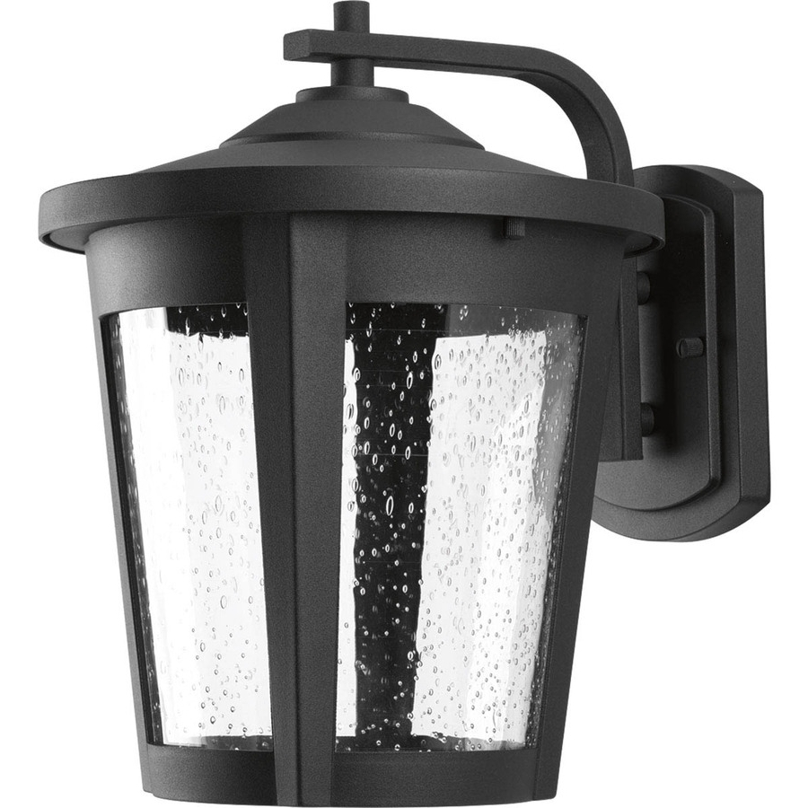 Led Outdoor Wall Lighting With 2018 Shop Progress Lighting East Haven Led 12 In H Black Led Outdoor Wall (View 20 of 20)