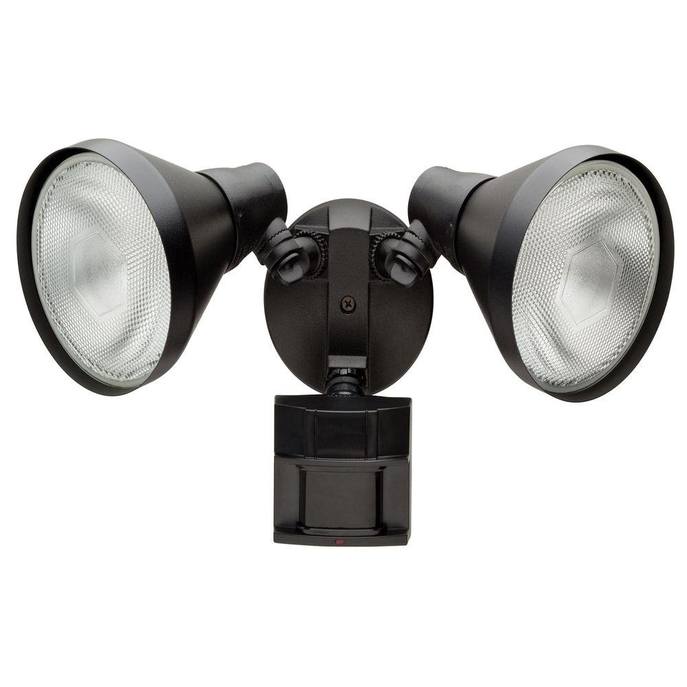 Led Outdoor Wall Lights With Motion Sensor Pertaining To Most Recently Released Defiant 180 Degree White Motion Sensing Outdoor Security Light Df (View 9 of 20)