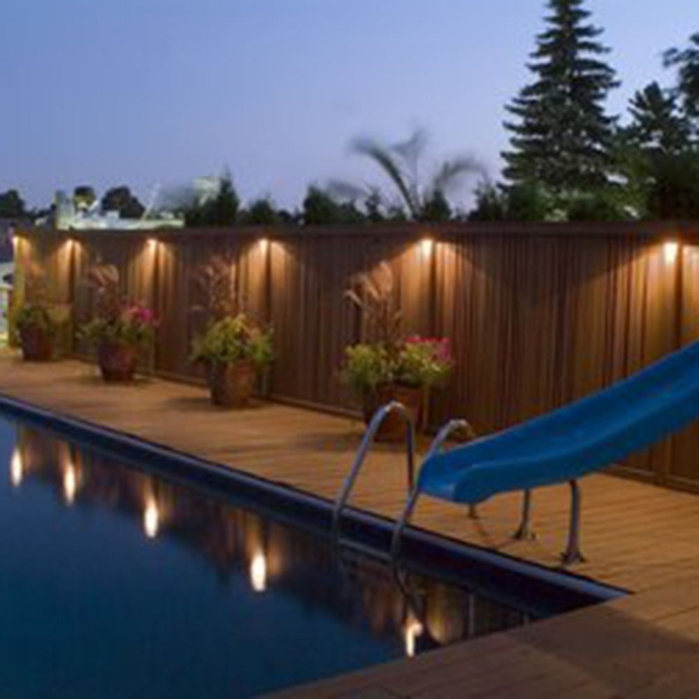 Led Solar Power Outdoor Garden Powered Light Gutter Fence Wall Roof Regarding Famous Hanging Outdoor Lights On Fence (View 6 of 20)
