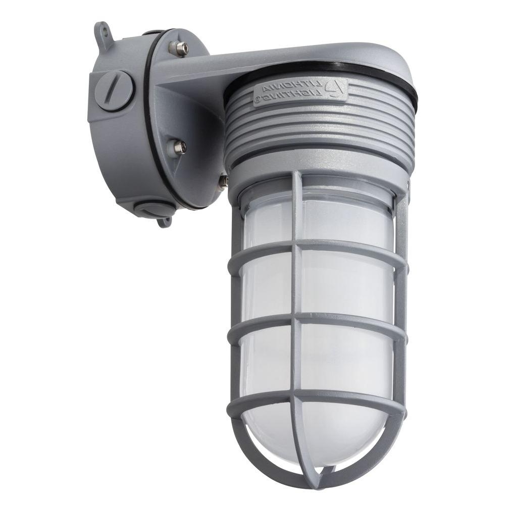 Led Wall Mount Outdoor Lithonia Lighting In Favorite Lithonia Lighting Gray Outdoor Integrated Led Vapor Tight Wall Mount (View 8 of 20)