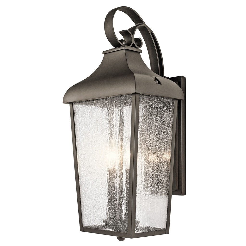 Let Outdoor Kichler Lighting Within Most Recent Kichler Lighting Forestdale Collection 2 Light Olde Bronze Outdoor (View 15 of 20)