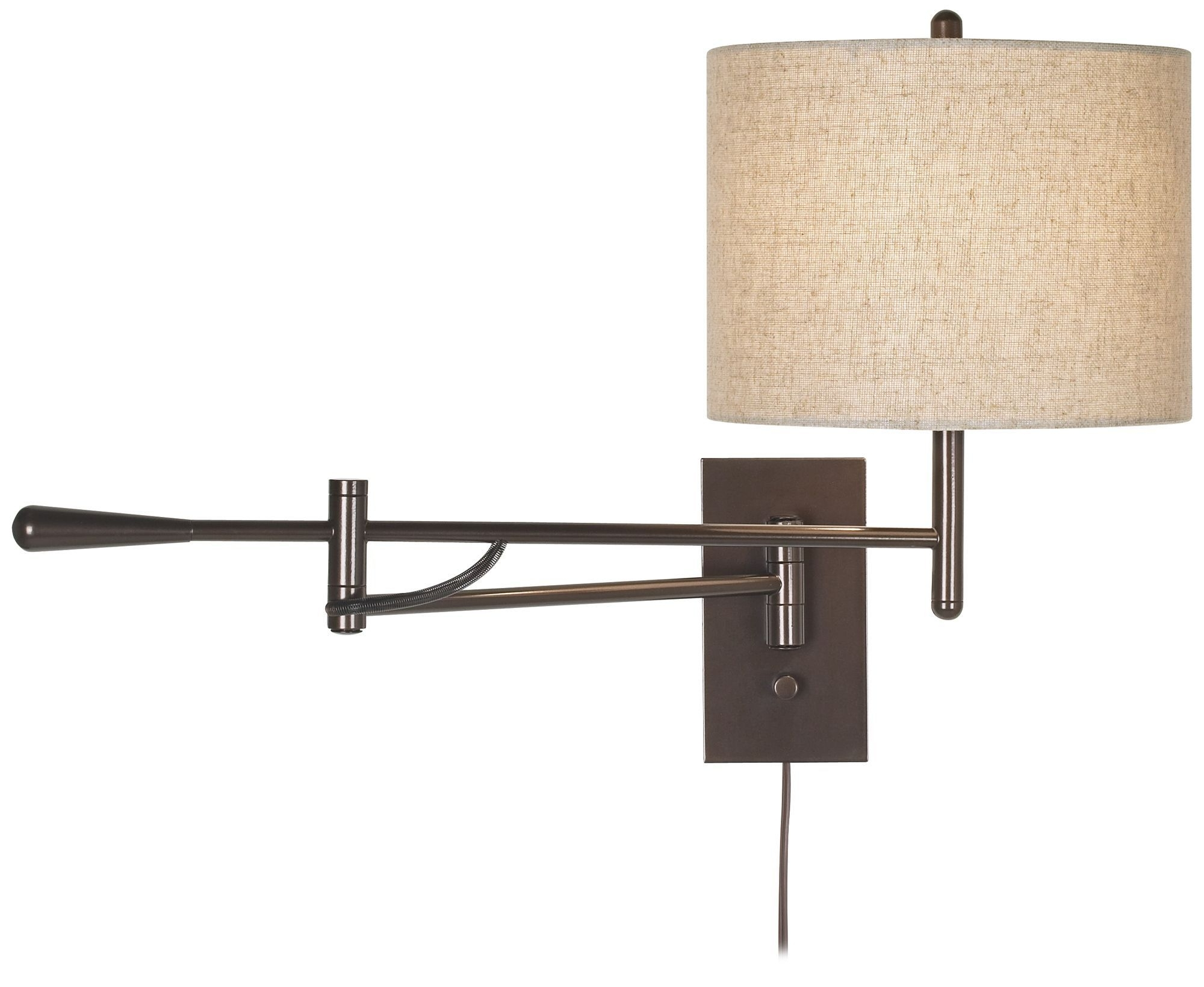 Light : Astonishing Decoration Wall Mounted Swing Arm Lamp Awesome Intended For Recent Outdoor Wall Lights With Receptacle (View 9 of 20)