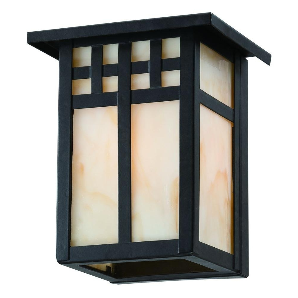 Light : Craftsman Style Outdoor Lighting Home Decorators Collection Intended For 2019 Rustic Outdoor Lighting At Home Depot (View 6 of 20)