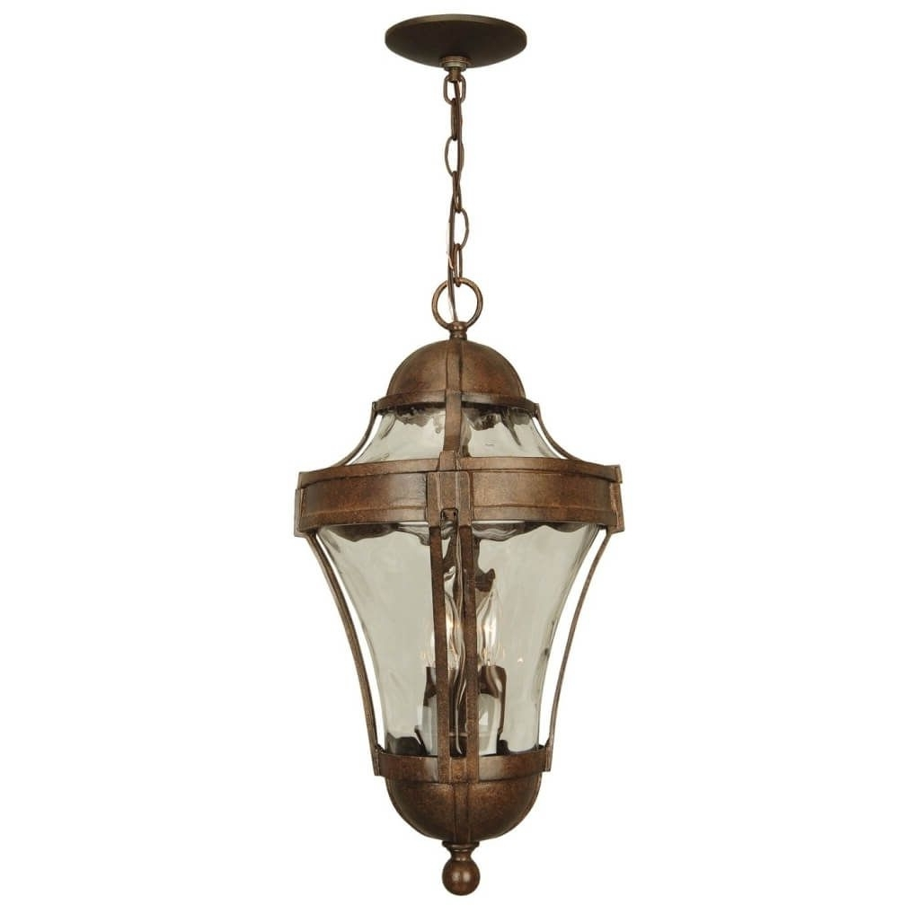 Lighting: Appealing Rustic Bronze Hanging Outdoor Pendant Lighting Pertaining To Well Known Modern Outdoor Pendant Lighting (View 6 of 20)