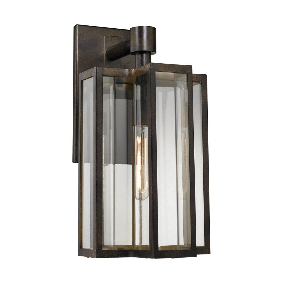 Lighting : Bianca Hazelnut Bronze Inch One Light Outdoor Wall Sconce In Most Recent Modern Outdoor Hinkley Lighting (View 7 of 20)