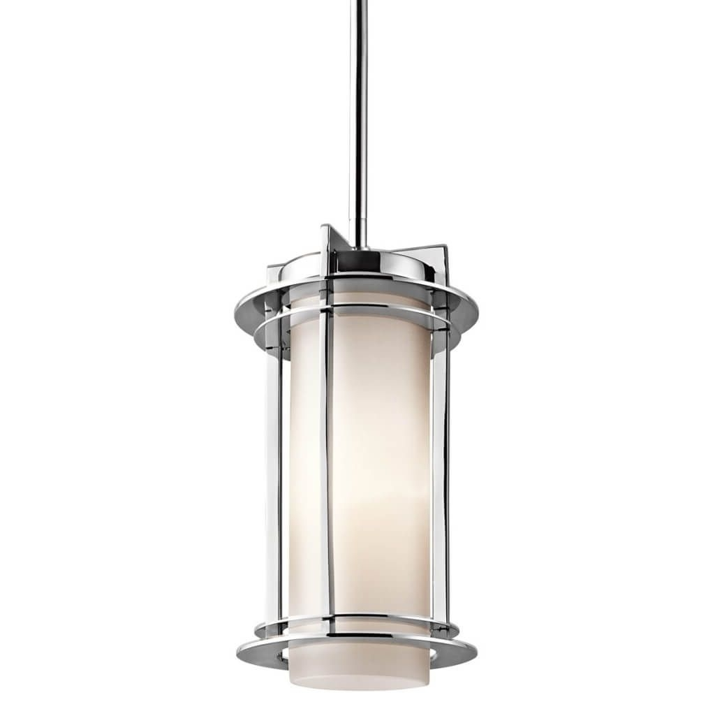 Lighting: Modern Cylinder Outdoor Pendant Light Design – The Pertaining To Well Known Outdoor Hanging Barn Lights (View 16 of 20)
