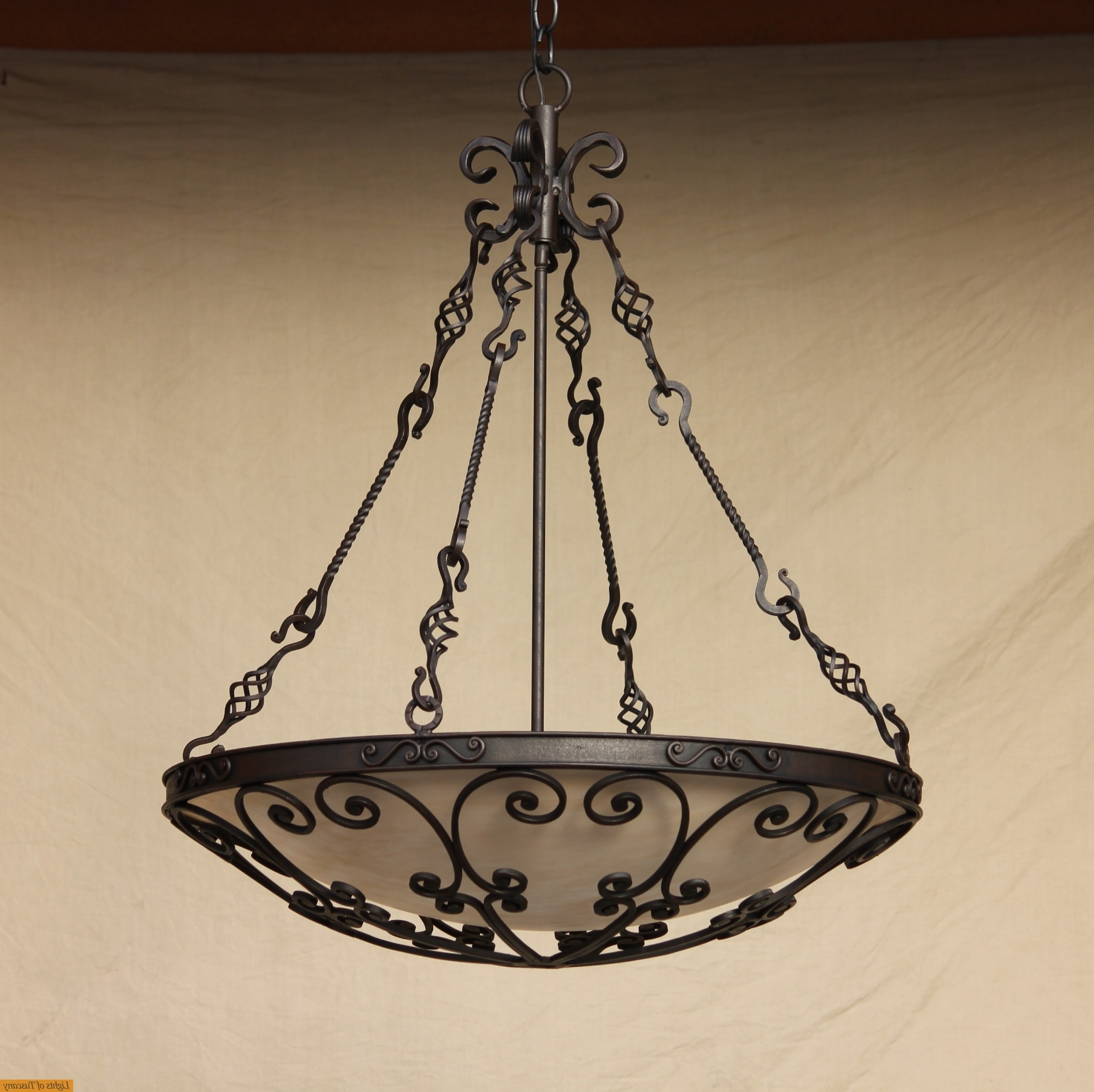 Lights Of Tuscany 2405 6 Mediterranean /spanish Style Wrought Iron Regarding Most Popular Outdoor Iron Hanging Lights (View 5 of 20)