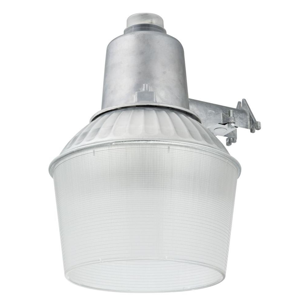Lithonia Lighting 150 Watt 1 Light Gray Outdoor Area Light With Dusk Throughout Most Recent Dusk To Dawn Outdoor Wall Mounted Lighting (View 12 of 20)