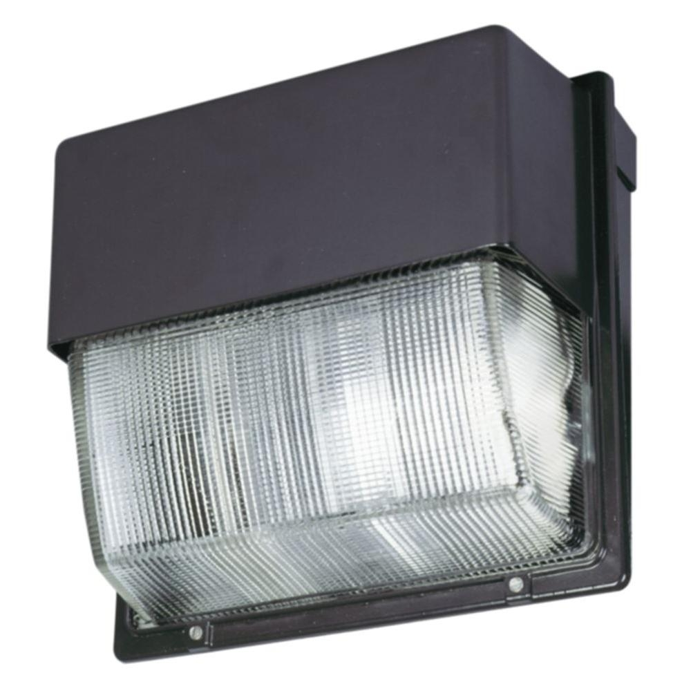Lithonia Lighting Bronze Outdoor Integrated Led 4000k Wall Pack Intended For Well Liked Commercial Led Outdoor Wall Lighting (View 9 of 20)