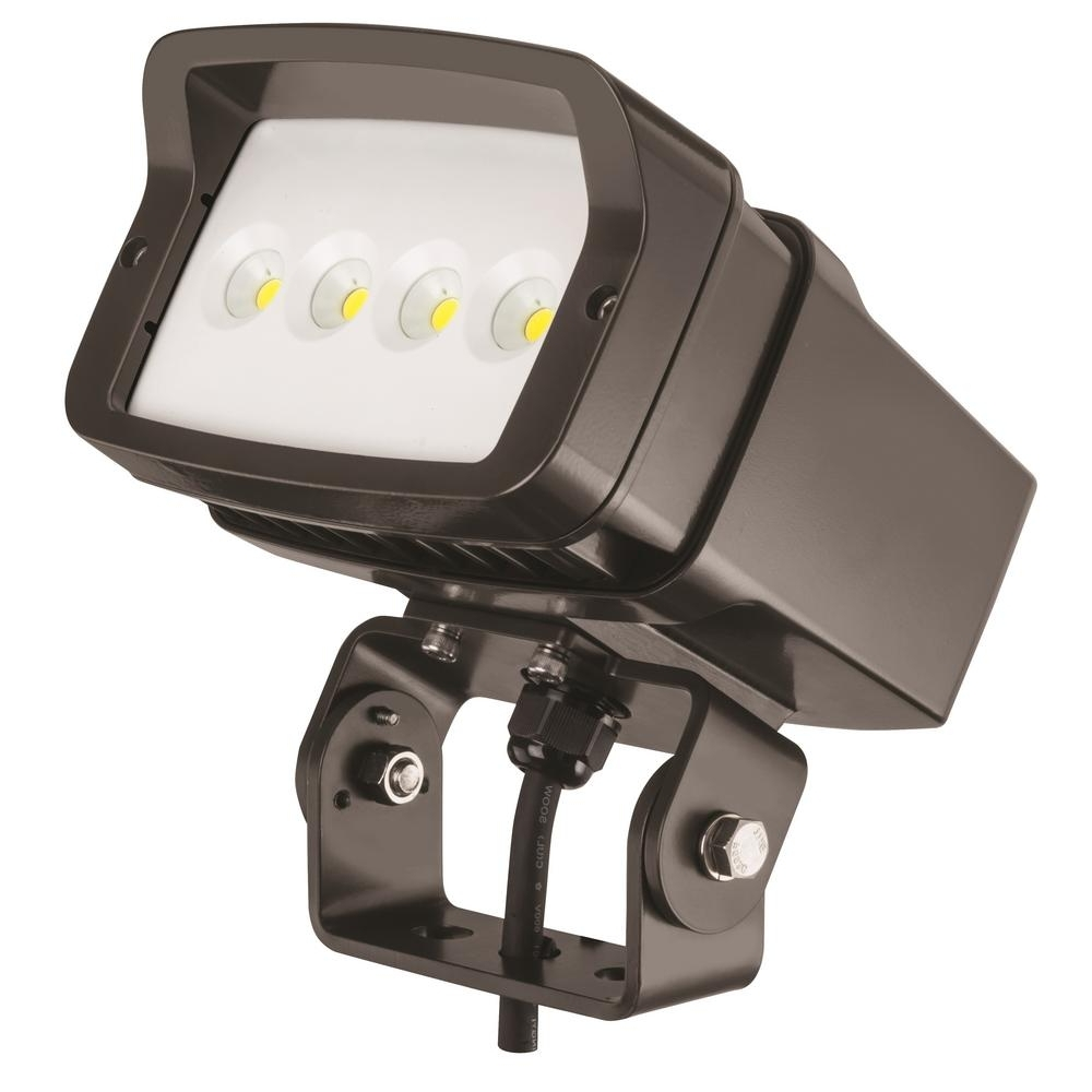 Lithonia Lighting Bronze Outdoor Integrated Led 5000K Landscape With Well Known Lithonia Lighting Wall Mount Outdoor Bronze Led Floodlight With Photocell (View 4 of 20)