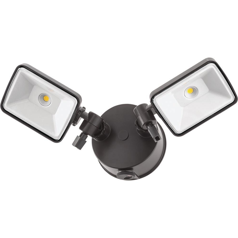Lithonia Lighting Bronze Outdoor Integrated Led Square Wall Mount With Regard To Latest Lithonia Lighting Wall Mount Outdoor White Led Floodlight With Motion Sensor (View 8 of 20)