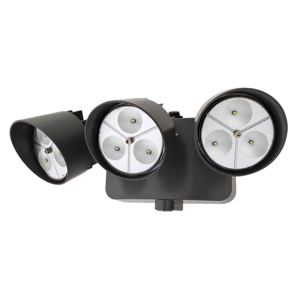 Lithonia Lighting Bronze Outdoor Led Wall Mount Flood Light With Regarding Favorite Lithonia Lighting Wall Mount Outdoor White Led Floodlight With Motion Sensor (View 7 of 20)