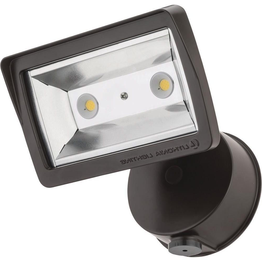 Lithonia Lighting Wall Mount Outdoor Bronze Led Floodlight With Motion Sensor Inside Newest Lithonia Lighting Bronze Outdoor Integrated Led Wall Mount Flood (View 9 of 20)