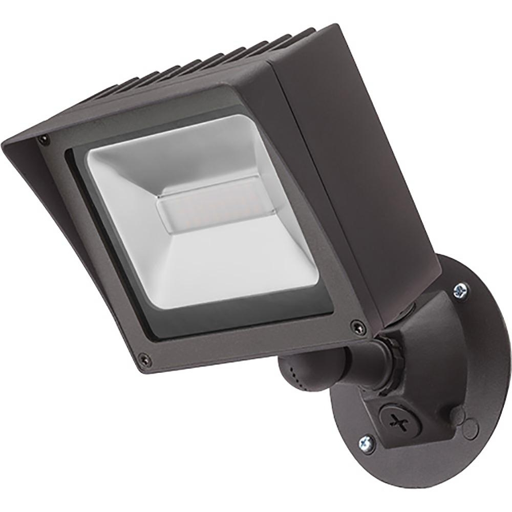 Lithonia Lighting Wall Mount Outdoor Bronze Led Floodlight With Photocell In Fashionable Lithonia Lighting Bronze Outdoor Integrated Led Wall Mount Flood (View 9 of 20)