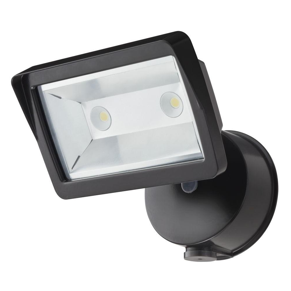 Lithonia Lighting Wall Mount Outdoor Bronze Led Floodlight With Photocell Pertaining To Newest Lithonia Lighting Bronze Outdoor Integrated Led Wall Mount Flood (View 2 of 20)